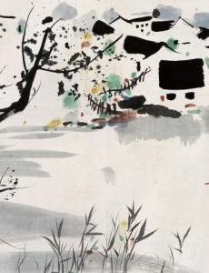 吴冠中绘画风格与技法